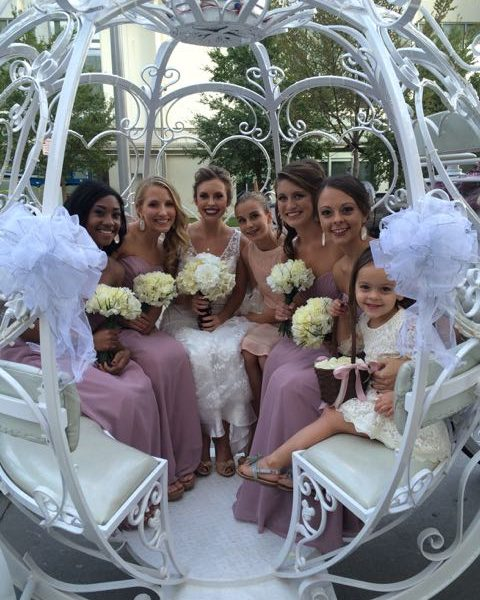 What a beautiful bride and entourage!